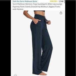 Wide leg yoga pants NWT size small